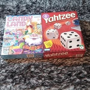 Yahtzee and candyland brand new